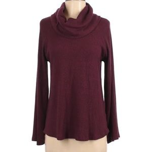 NWT Anthro Maeve Cowl Neck Sweater- Wine XL